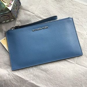 MICHAEL Michael Kors Lg French Blue Clutch